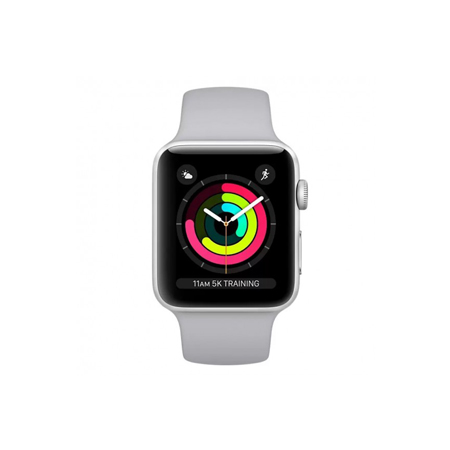 AppleWatch Series3 GPS+Cellular, 38mm Silver Aluminium Case with White Sport Band