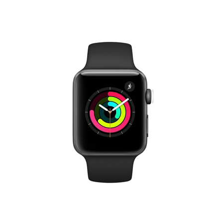 AppleWatch Series3 GPS+Cellular, 38mm Space Grey Aluminium Case with Black Sport Band