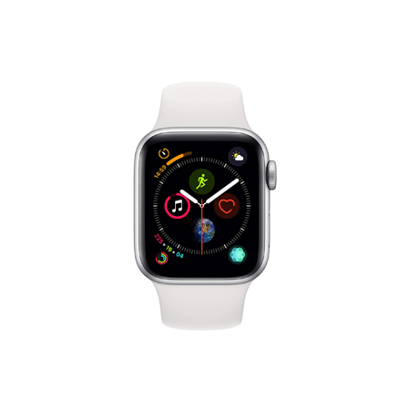 AppleWatch Series4 GPS+Cellular, 40mm Silver Aluminium Case with White Sport Band