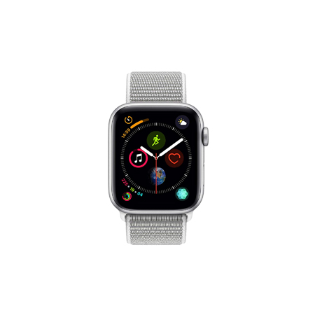 AppleWatch Nike+ Series4 GPS+Cellular, 44mm Silver Aluminium Case with Pure Platinum/Black Nike
