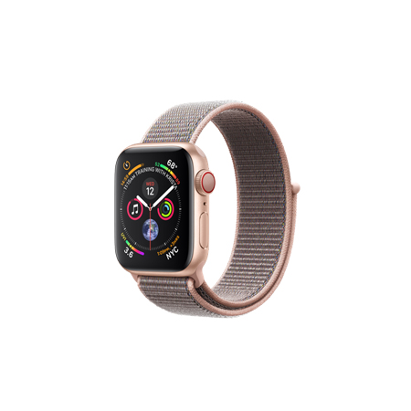 AppleWatch Series4 GPS+Cellular, 40mm Gold Aluminium Case with Pink Sand Sport Loop