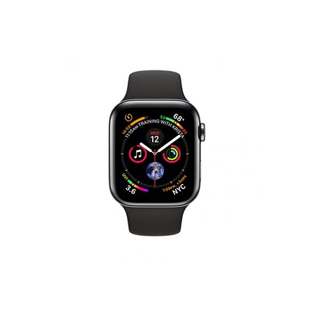 AppleWatch Series4 GPS+Cellular, 40mm Space Black Stainless Steel Case with Black Sport Band