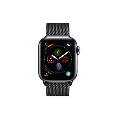 AppleWatch Series4 GPS+Cellular, 40mm Space Black Stainless Steel Case with Space Black Milanese