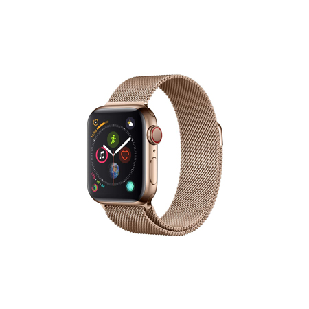 AppleWatch Series4 GPS+Cellular, 40mm Gold Stainless Steel Case with Gold Milanese Loop