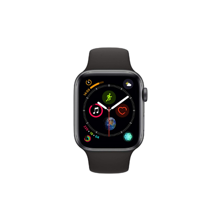 AppleWatch Series4 GPS+Cellular, 44mm Space Grey Aluminium Case with Black Sport Band