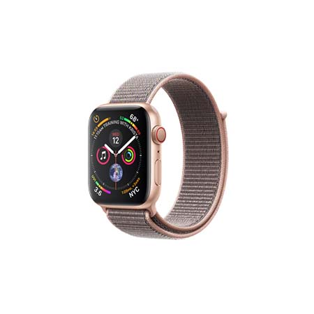 AppleWatch Series4 GPS+Cellular, 44mm Gold Aluminium Case with Pink Sand Sport Loop