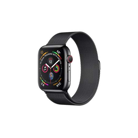 AppleWatch Series4 GPS+Cellular, 44mm Space Black Stainless Steel Case with Space Black Milanese