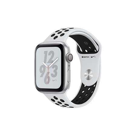 AppleWatch Nike+ Series4 GPS+Cellular, 40mm Silver Aluminium Case with Pure Platinum/Black Nike