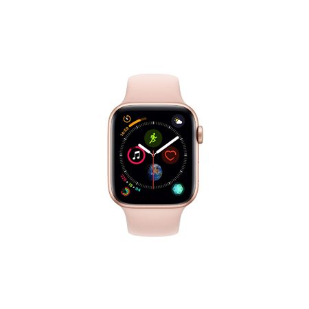 hot sale online 30ebe ed38b Apple Watch Series 4 GPS, 40mm Gold Aluminium Case with Pink Sand ...