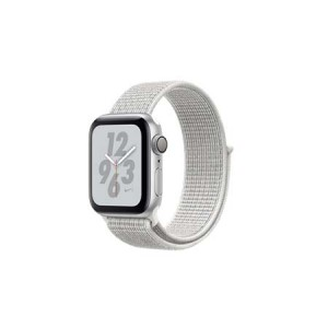 Apple Watch Nike+ Series 4 GPS + Cellular, 44mm Silver Aluminium Case with Summit White Nike Sport L