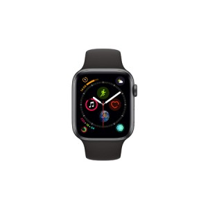 AppleWatch Series4 GPS, 44mm Space Grey Aluminium Case with Black Sport Band